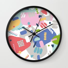 Colorful Painted Artist Brushstrokes Wall Clock