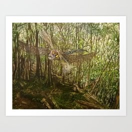 The Dragon of Combe Hill Woods Art Print