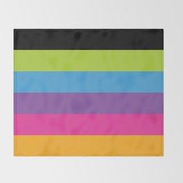Neon stripes Throw Blanket