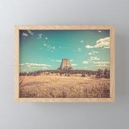 Devil's Tower National Monument Wyoming Framed Mini Art Print
