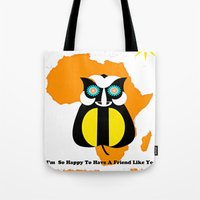 friendship Tote Bags featuring Friendship by Saundra Myles