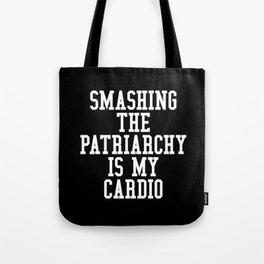 Smashing The Patriarchy is My Cardio (Black & White) Tote Bag