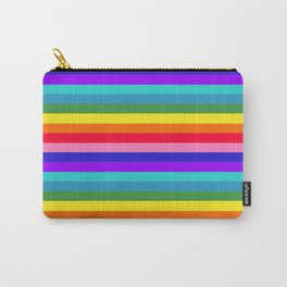 Stripes of Rainbow Colors Carry-All Pouch