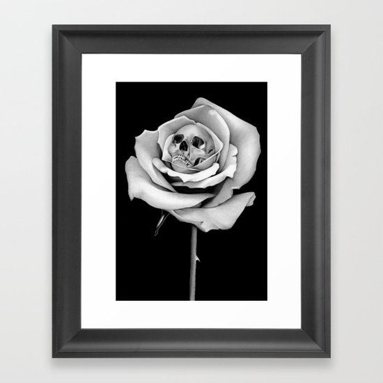 Beauty & Death Framed Art Print