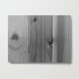 Pine in Black and White Metal Print