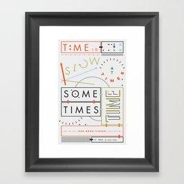 Haikuglyphics - Thyme Framed Art Print