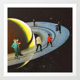 Saturn's Rink Art Print