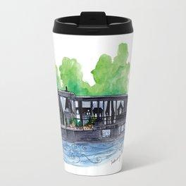 Water Living in Amsterdam by Charlotte Vallance Travel Mug