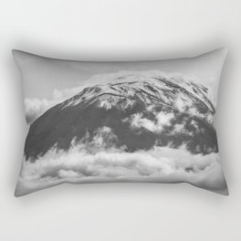 Volcano Misti in Arequipa Peru Covered by Clouds Rectangular Pillow