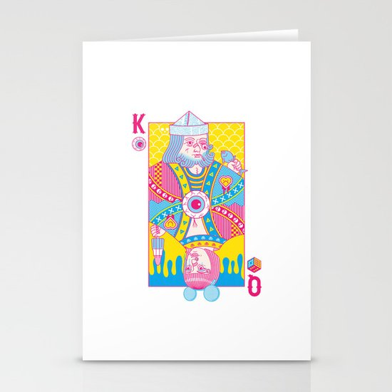 King Of Nothing, Queen Of Nowhere Stationery Cards