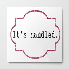 It's Handled - Television Pink Glitter Metal Print