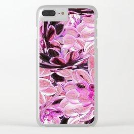Pink Desert Succulents Clear iPhone Case