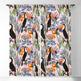 Tucan Garden #pattern #illustration Blackout Curtain