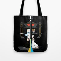 tron Tote Bags featuring Tron by Sara E. Snodgrass