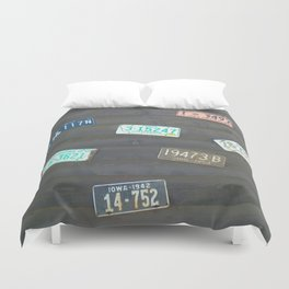 These Old Plates Duvet Cover