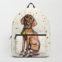 Hungarian Vizsla Dog Closeup Backpack
