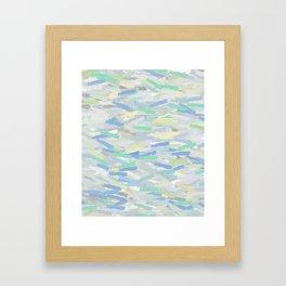 Blue, Teal, Green Abstract Framed Art Print