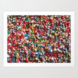 GUM WALL Art Print