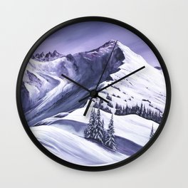 Pointe De Chesery Wall Clock