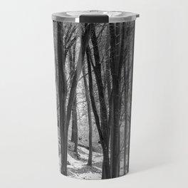 Through the Snowy Beech Wood Travel Mug