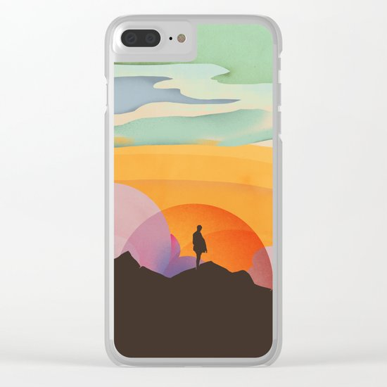 I Like to Watch the Sun Come Up Clear iPhone Case