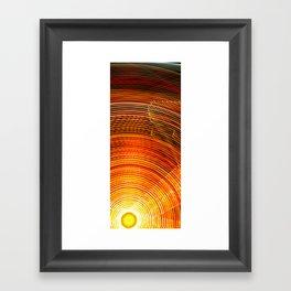 Electric Sun Framed Art Print