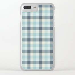 Winter Plaid 3 Clear iPhone Case