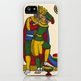 The Kiss (Neapolitan cards) iPhone Case