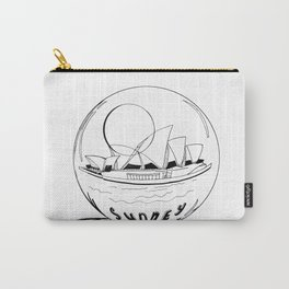 Sydney in a glass globe . artwork Carry-All Pouch