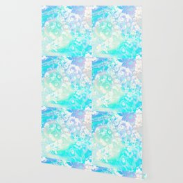 Floral Dream Pastel Hologram Wallpaper