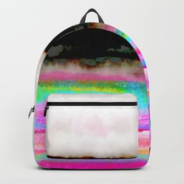 abstract landscape colorful modern painting Backpack