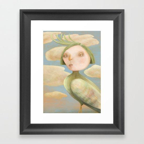 Green Crested Ladytoo Framed Art Print