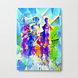 Colorful distractions on the sidewalk abstract Metal Print