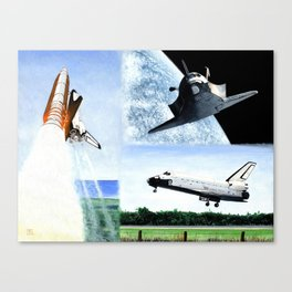Magnificent flying machine Canvas Print