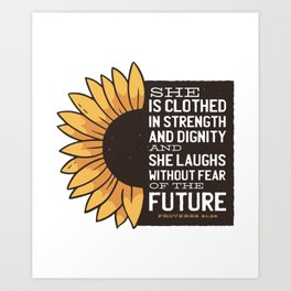 Sunflower Future Art Print