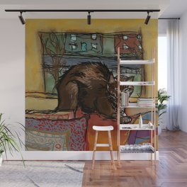 The Leisurely Cat Wall Mural
