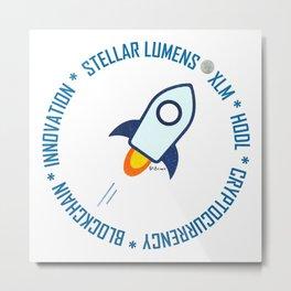 Stellar Lumens Moon Metal Print