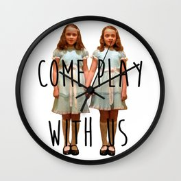 Come play with us Wall Clock