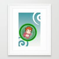 ponyo Framed Art Prints featuring Ponyo  by SamIAmTheSam