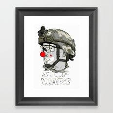 Clown to Stop Wars Framed Art Print