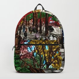 'Saturday on Broadway with George' Landscape by Jeanpaul Ferro Backpack