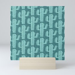 Mid Century Modern Desert Cactus Pattern 865 Mini Art Print