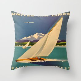 Vintage poster - Pacific Northwest Throw Pillow