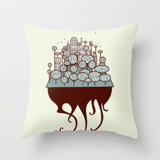 Treecity Throw Pillow