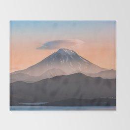 Vilyuchik volcano Throw Blanket