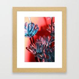 BLING FLOWER Framed Art Print