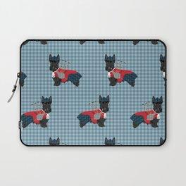 Scottish Terrier dog breed custom pet portrait funny dog pattern dog gifts all breeds Laptop Sleeve