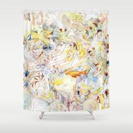 Mosaic of Barcelona XI Shower Curtain
