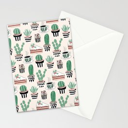 Cacti, Coffee and Cake Stationery Cards