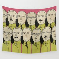 the office Wall Tapestries featuring OFFICE SPACE by TOM / TOM